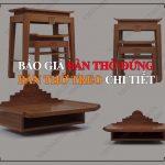 Báo giá bàn thờ gỗ cao cấp tại Hà Nội
