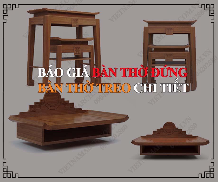 Báo giá bàn thờ chi tiết - Vietnamarch