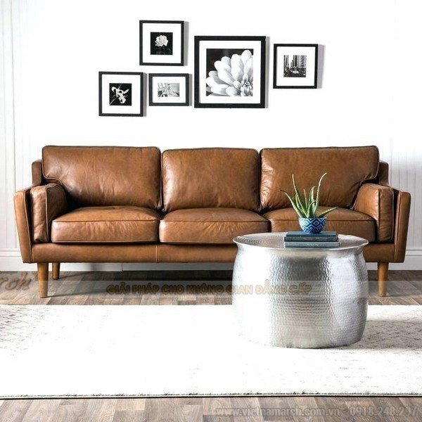 Mẫu ghế sofa da thật nhập khẩu