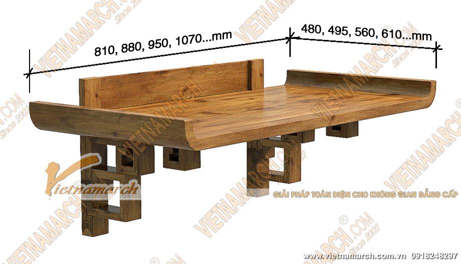Kích thước bàn thờ treo chuẩn phong thủy