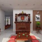 Kinh nghiệm chọn bàn thờ Gia tiên kết hợp với bàn thờ Phật