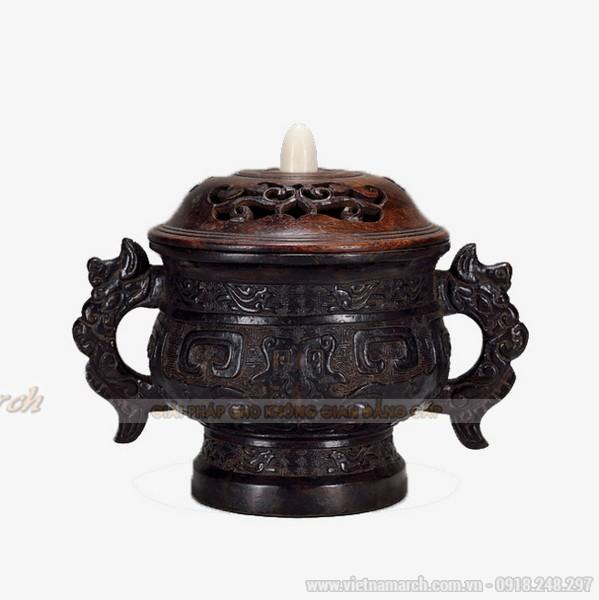 Mẫu lư hương cổ bằng đồng