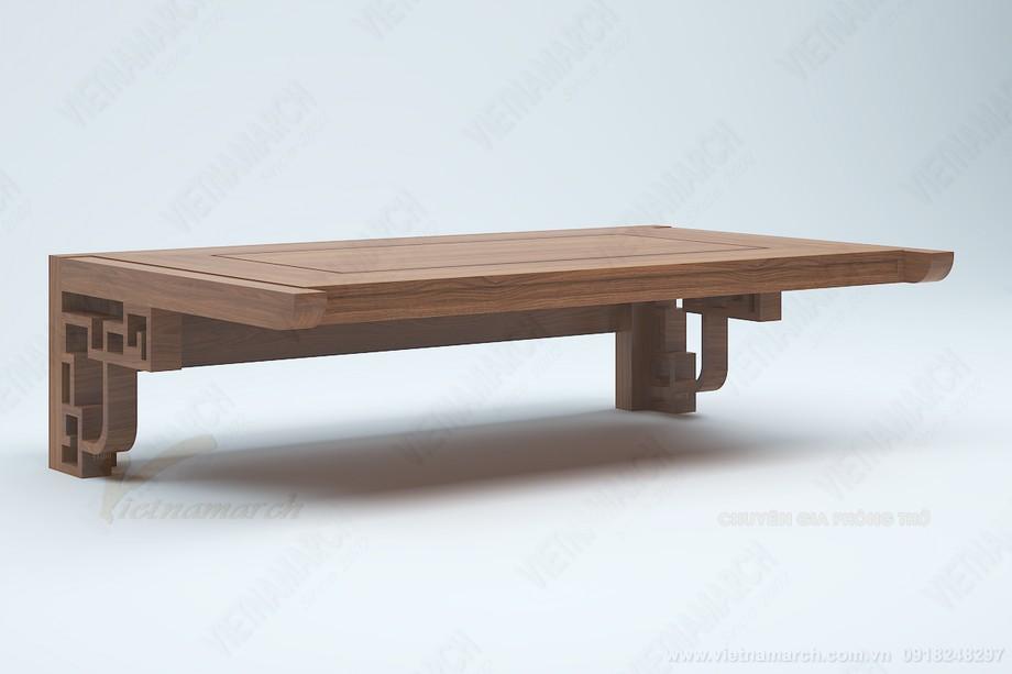 Bàn thờ treo tường cao bao nhiêu là hợp lý? Gợi ý chiều cao bàn thờ chuẩn phong thủy