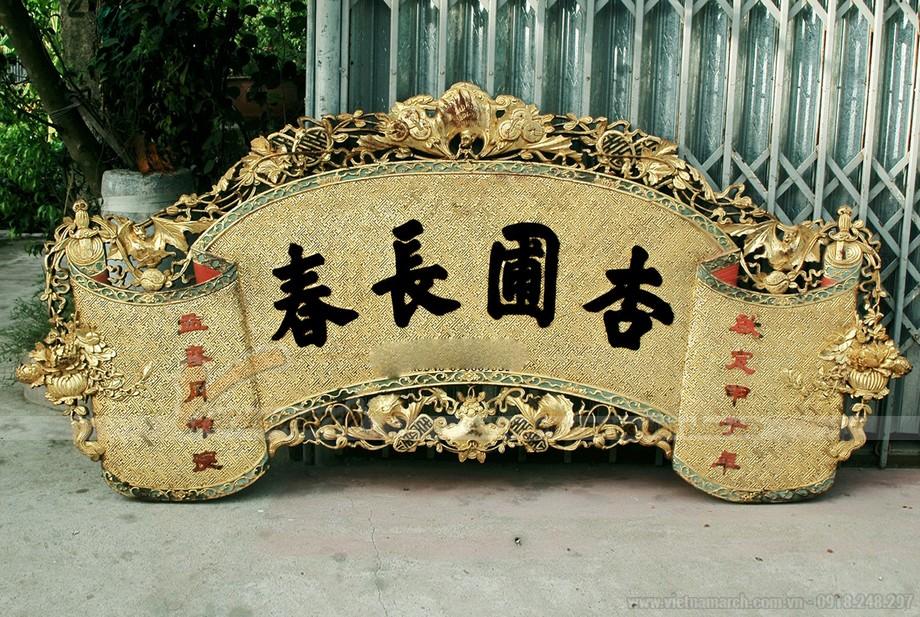 Mẫu cuốn thư bằng gỗ