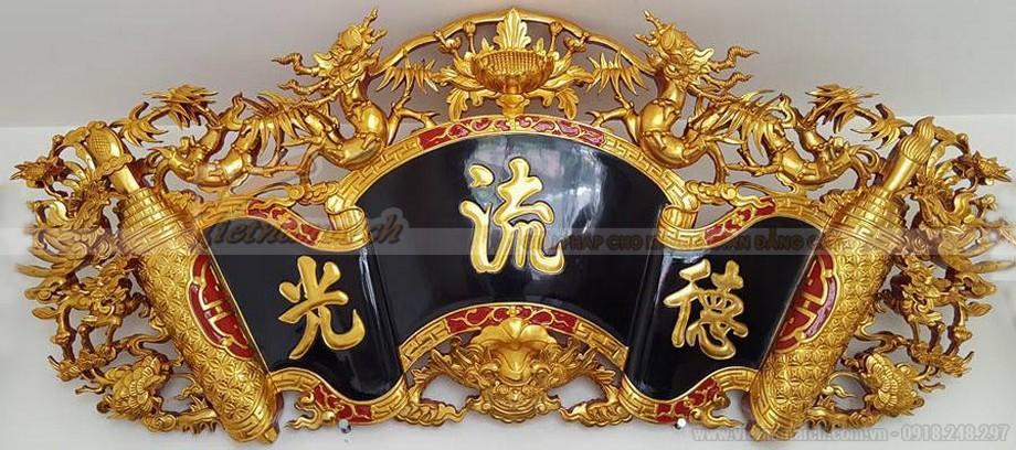 Mẫu cuốn thư bằng gỗ sơn son thiếp vàng