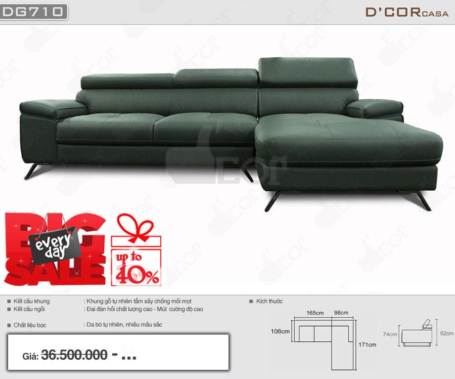Mẫu ghế sofa hiện đại da bò nhiều màu đẹp