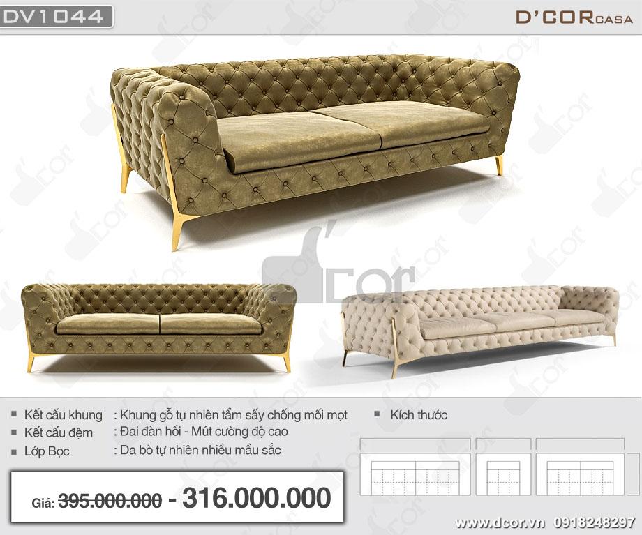 Mẫu ghế sofa cổ điển nhập khẩu Italia đẳng cấp, sang trọng