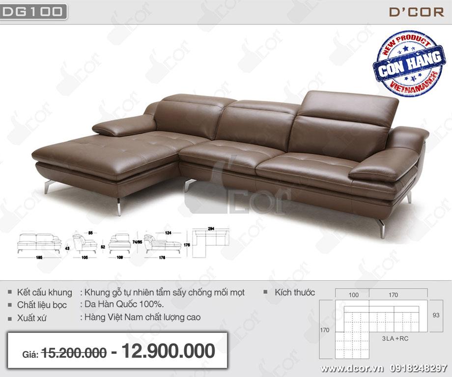 Mẫu ghế sofa góc da hàng Việt Nam chất lượng cao giá rẻ