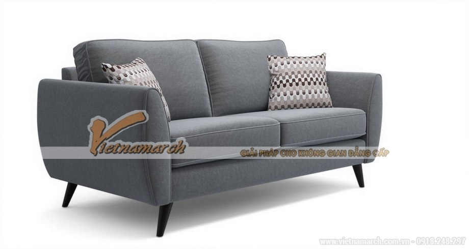 Mẫu sofa văng đơn giản, hiện đại màu xám nhã nhặn