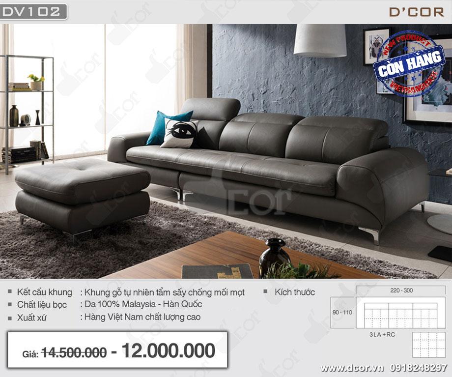 Mẫu ghế sofa văng Việt Nam giá rẻ chất liệu da 100%