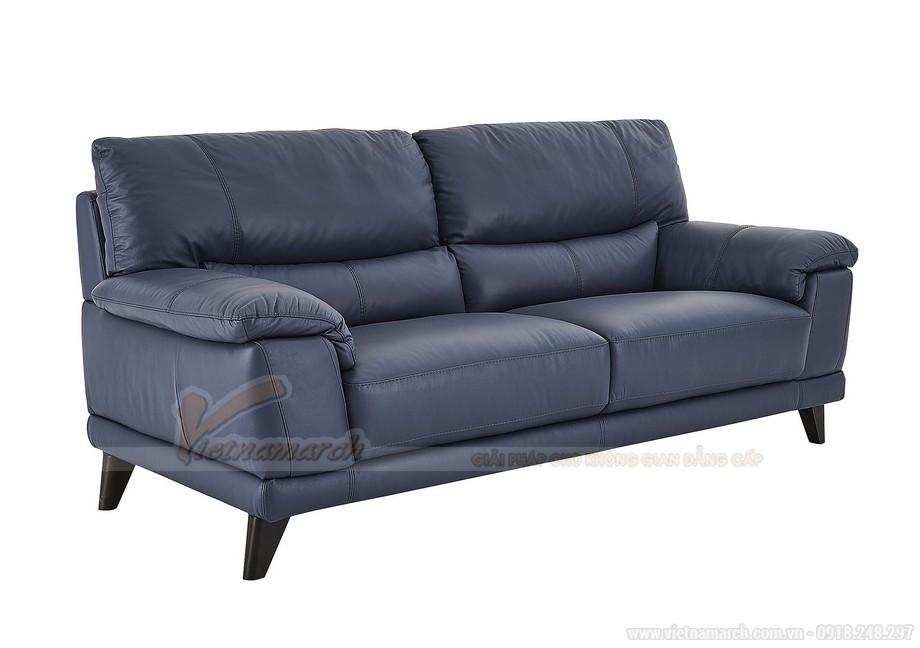 Mẫu sofa da đơn giản, hiện đại, sang trọng màu xanh độc đáo