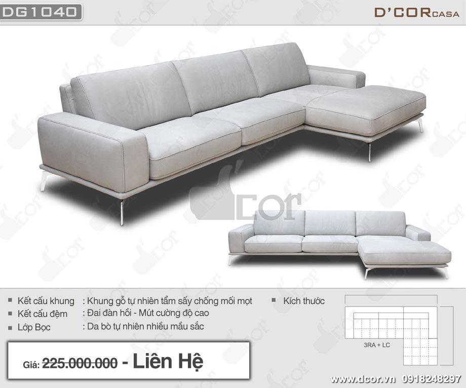 Mẫu sofa góc da nhập khẩu Italia hiện đại tông màu sáng thanh lịch