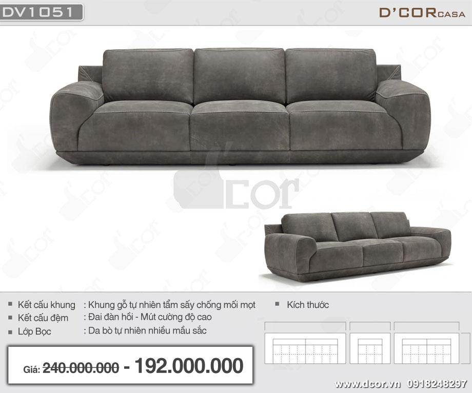 Mẫu sofa văng da bò nhập khẩu Italia đơn giản
