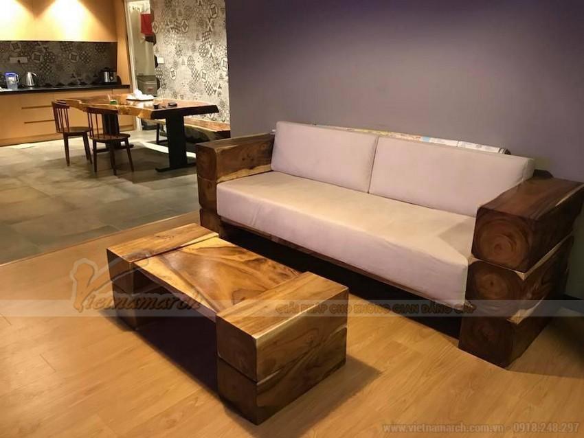 Bộ ghế sofa gỗ