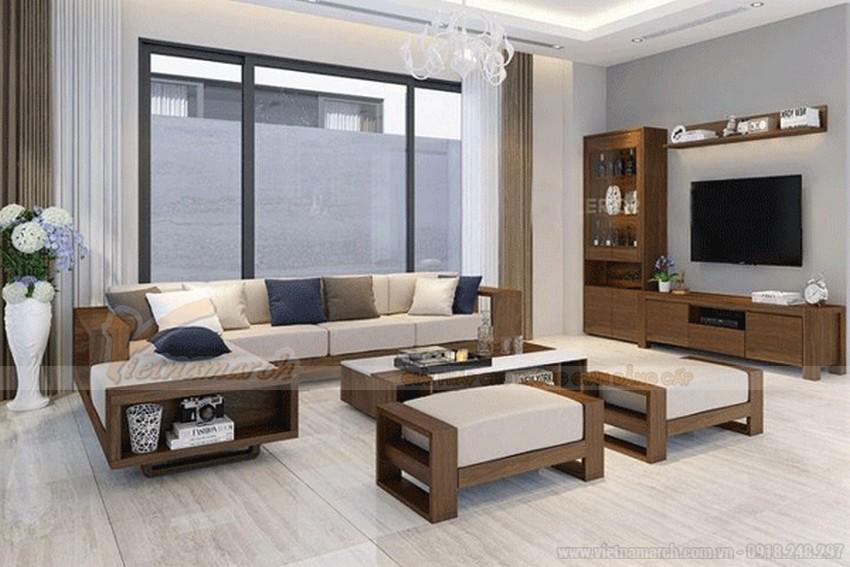 sofa gỗ chữ hình L