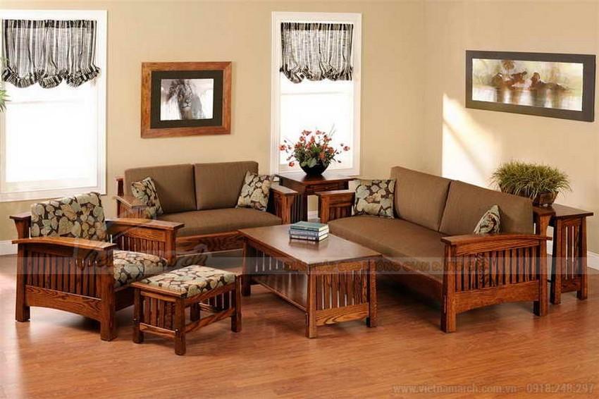 bàn ghế sofa gỗ gụ
