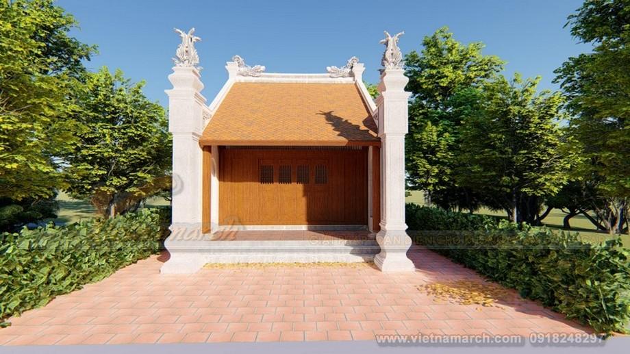 Mẫu nhà thờ họ 1 gian tại Hưng Yên