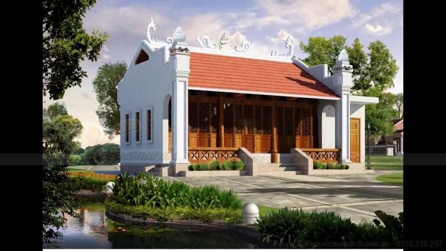 mẫu nhà thờ họ 3 gian 2 mái đẹp như cổ tích