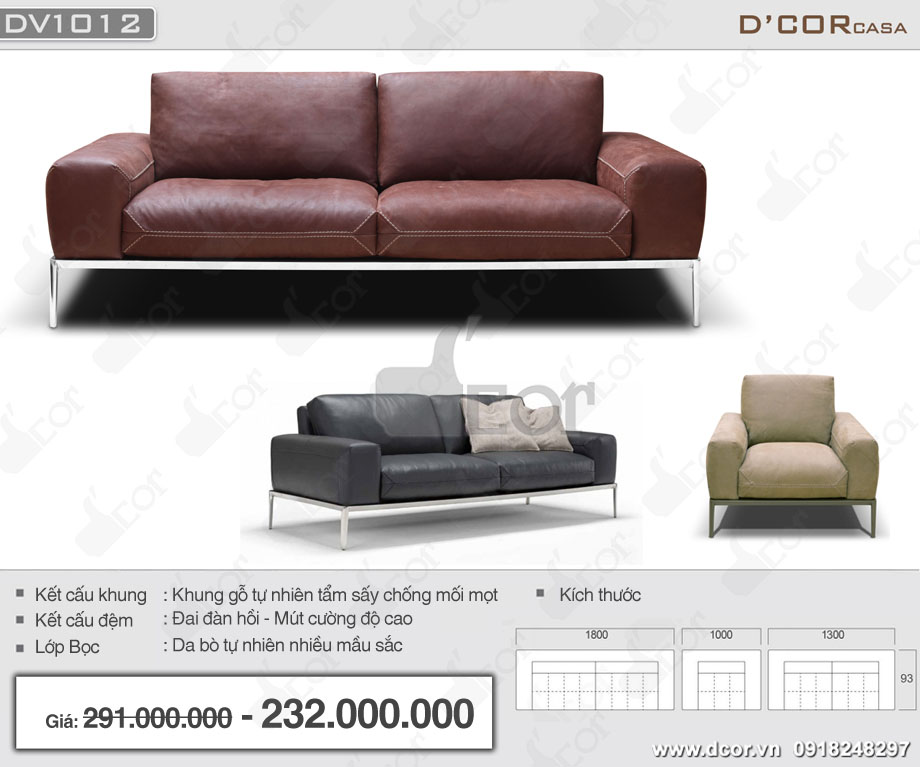 Mẫu sofa da bò nhập khẩu cao cấp cho phòng khách