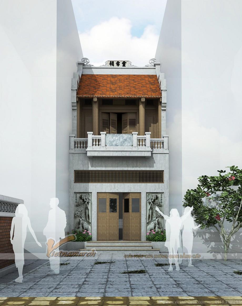 Mẫu thiết kế nhà thờ họ 2 tầng kết hợp nhà ở đẹp tại Hà Đông - Hà Nội