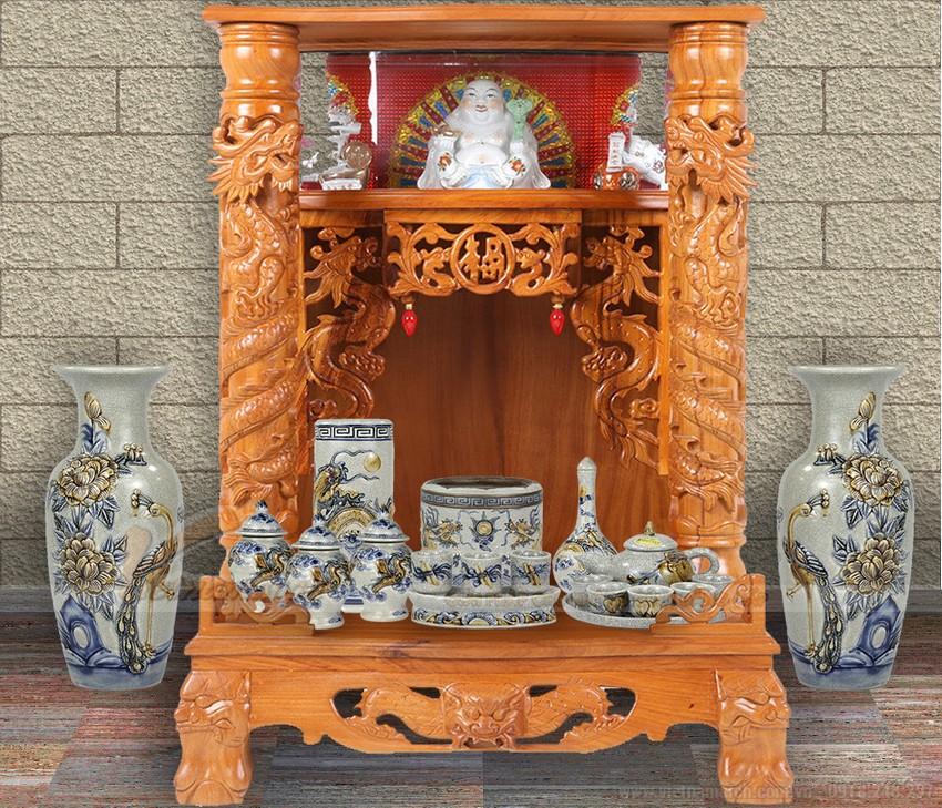 Một trong những mẫu bàn thờ Thần Tài Thổ Địa rước tài lộc về cho gia chủ,