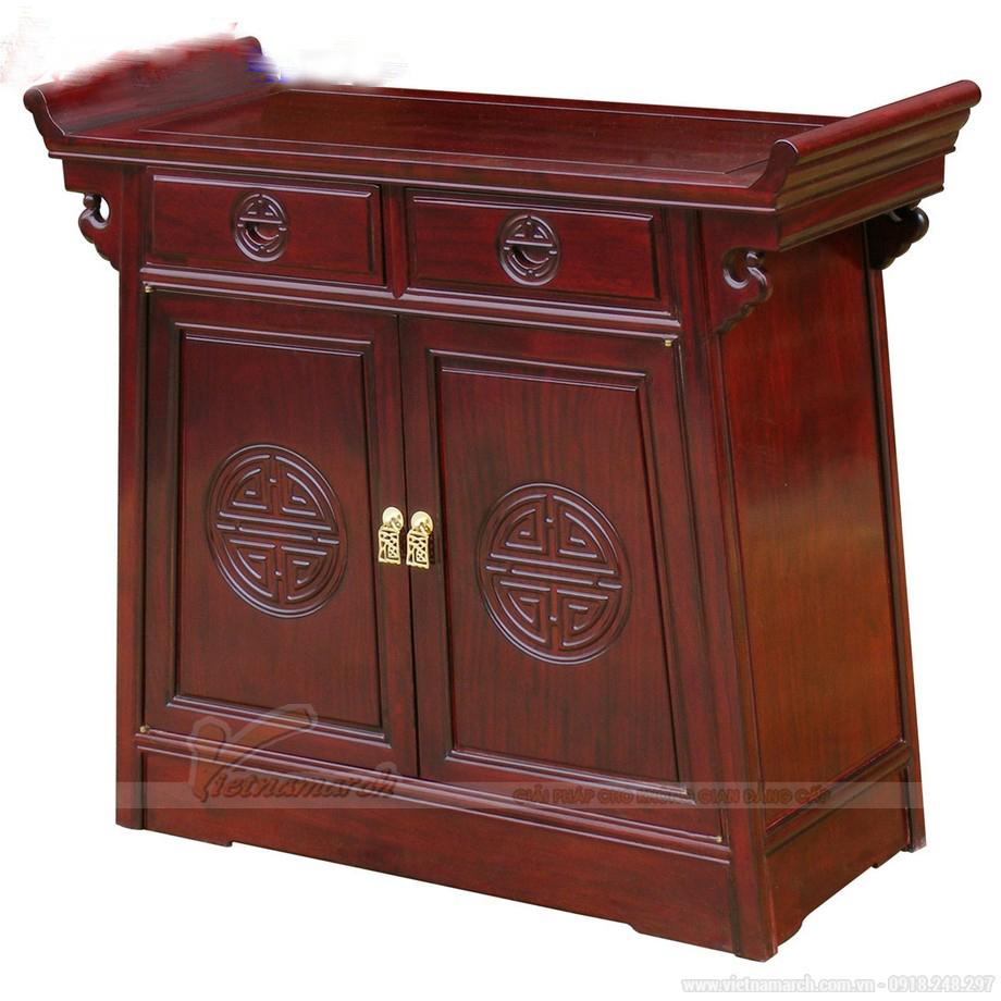 Mẫu tủ thờ hiện đại hình thang đẹp mắt