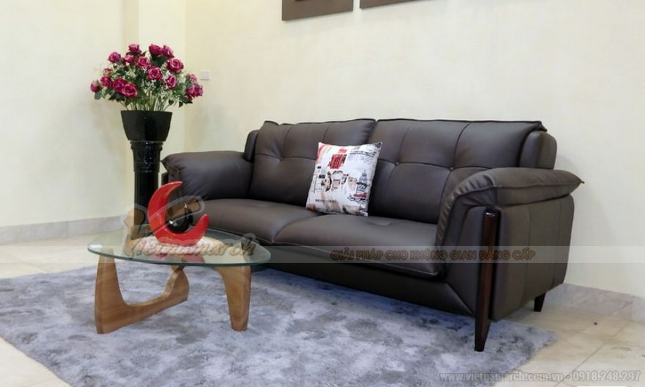 sofa da hiện đại cho nhà nhỏ