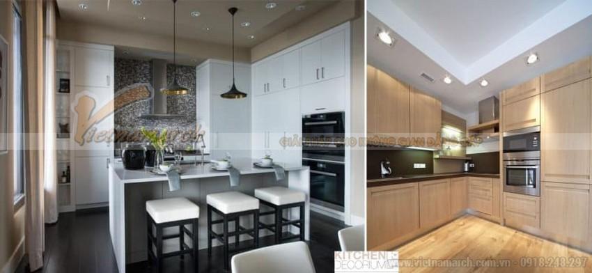 thiết kế trần nhà thạch cao và nội thất chung cư kiểu Hàn Quốc