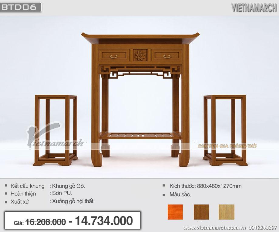 Mẫu bàn thờ hiện đại đẹp
