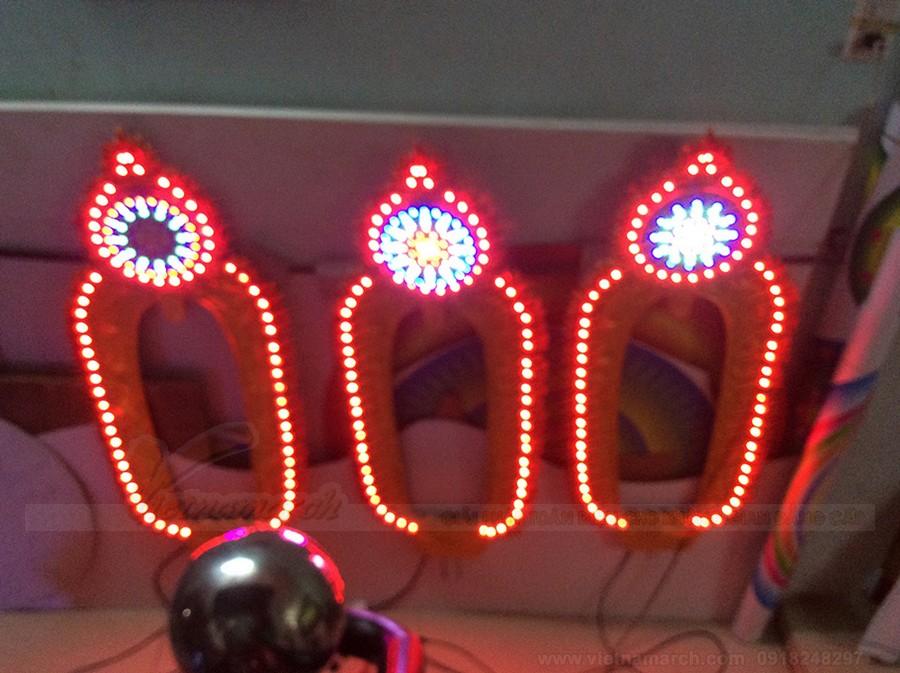 Những kiểu đèn led trang trí bàn thờ phật