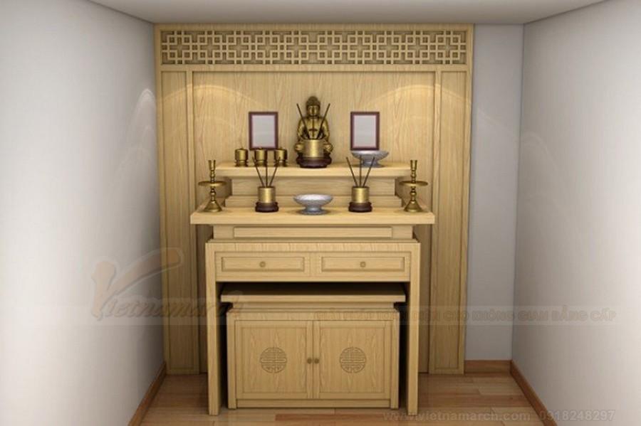 Lưu ý khi thiết kế bàn thờ thần phật