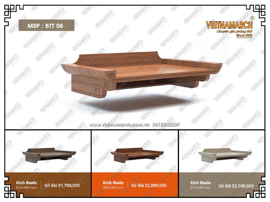 Top những mẫu bàn thờ treo tường