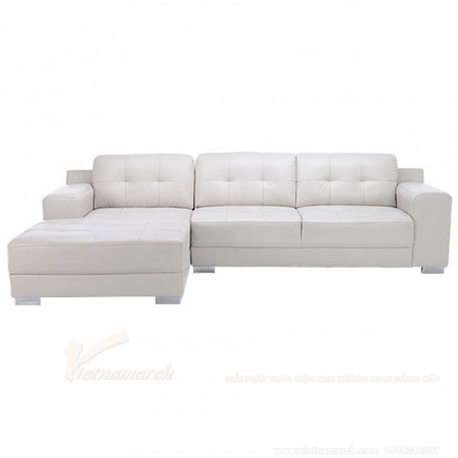 Sofa góc màu trắng