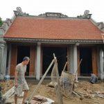 Thi công nhà thờ họ 3 gian 2 mái tại Hà Nam suất đầu tư 850 triệu