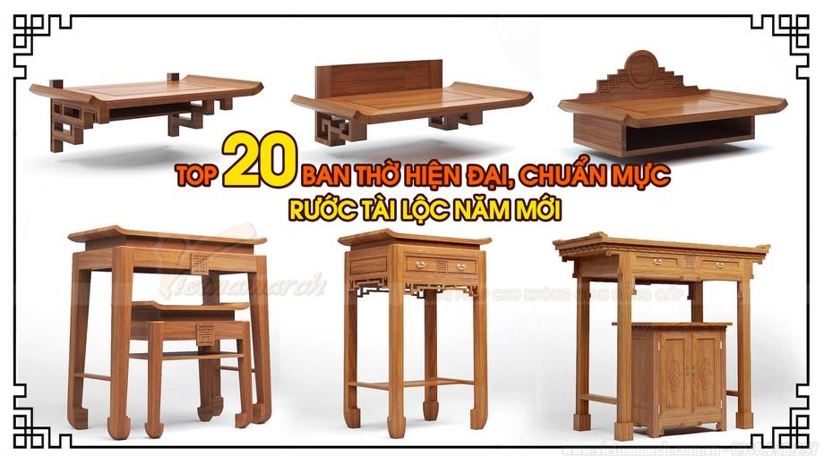 Mẫu thiết kế bàn thờ chuẩn đẹp