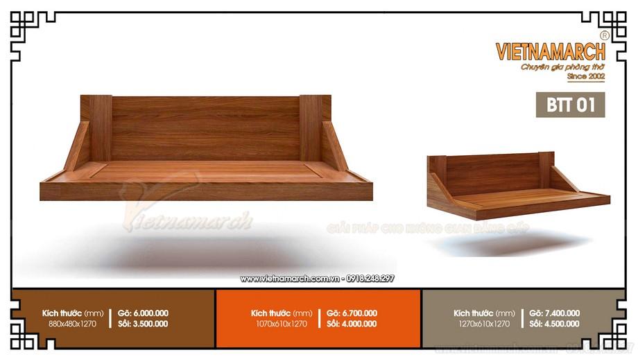 Mẫu bàn thờ treo BTT01