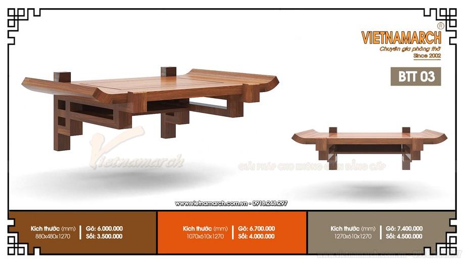 Mẫu bàn thờ treo BTT03