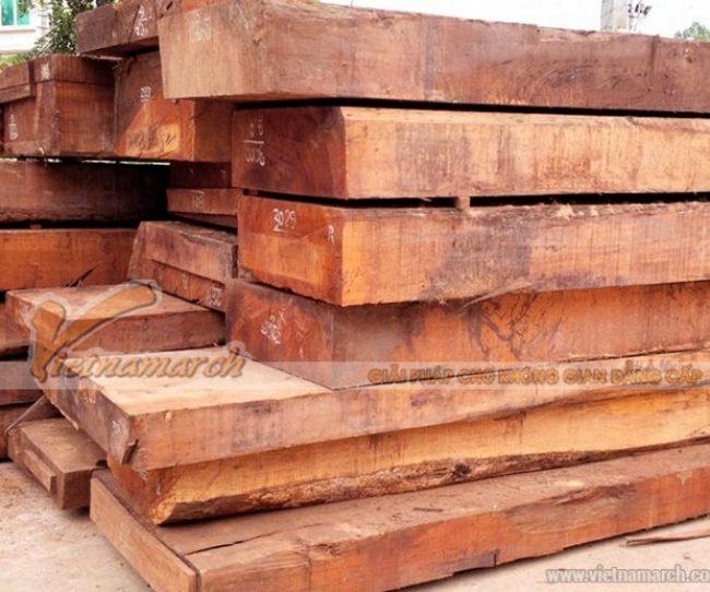 Mẫu gỗ gụ tự nhiên