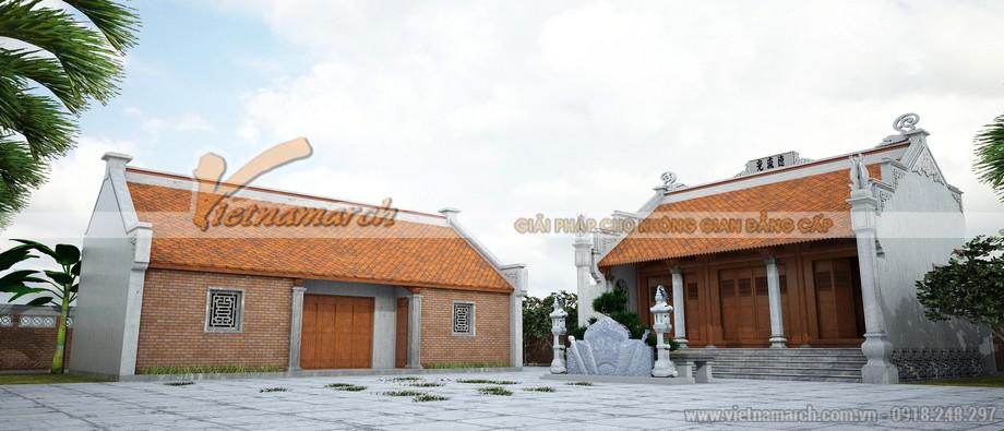 Nhà thờ họ Hồ ở Quỳnh Đôi liền nhà ngang