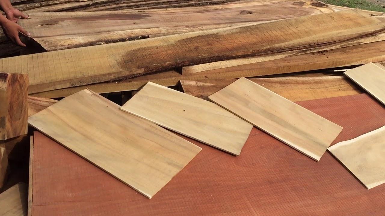Quá trình sơ chế gỗ làm bàn thờ khoa học, chính xác tỉ mỉ