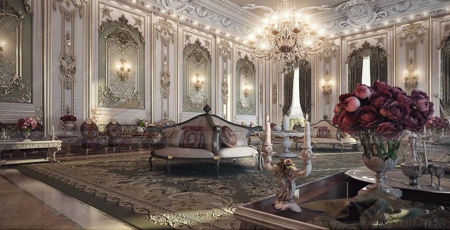 Nhìn tồng quát mặt bằng rộng trong biệt thự Riverside Hải Phòng mang đậm phong cách các bậc đế vươngLouis XIV
