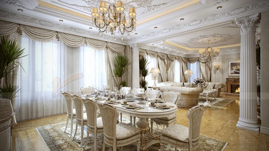 Thiết kế biệt thự Riverside Hải Phòng với nội thất tân cổ điển và đương đại ấn tượng