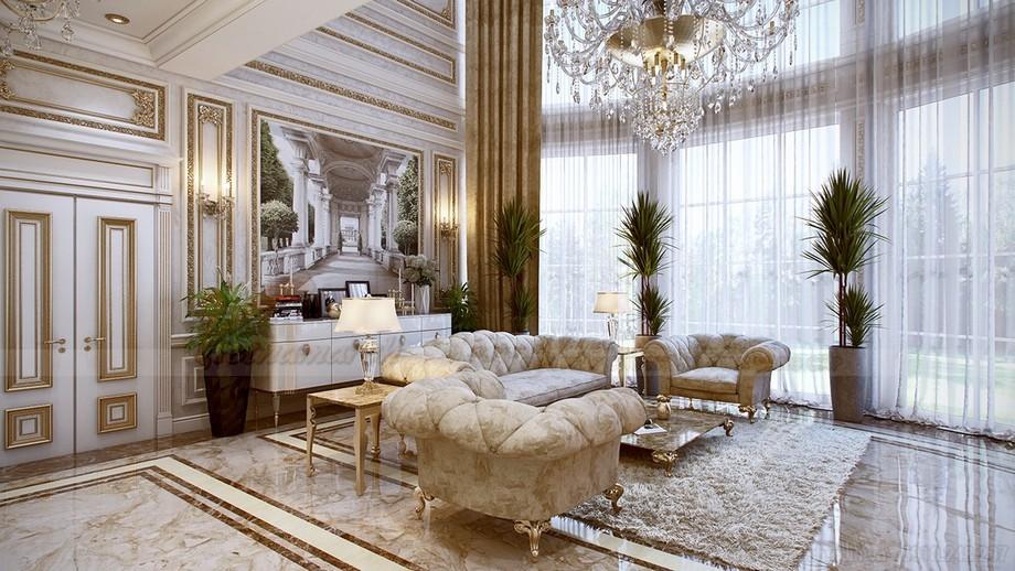 Tấm thảm cùng màu sang trọng và êm ái là đồ nội thất không thể thiếu