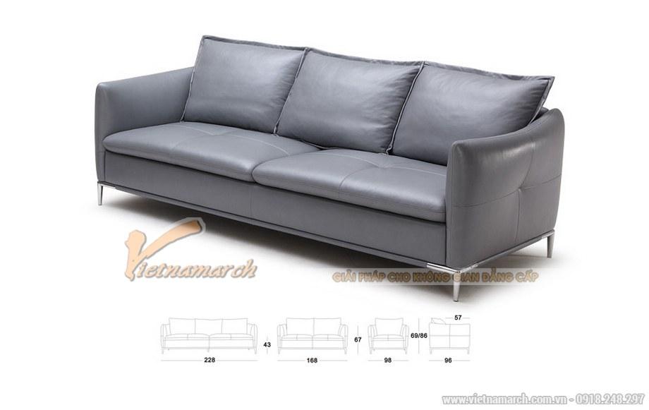 sofa văng 3 chỗ màu xám