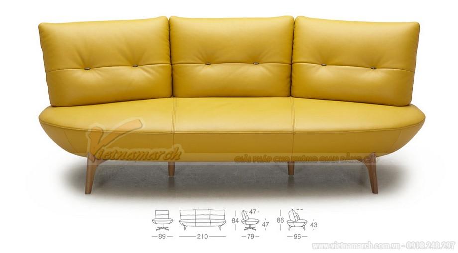 sofa văng 3 chỗ nhỏ