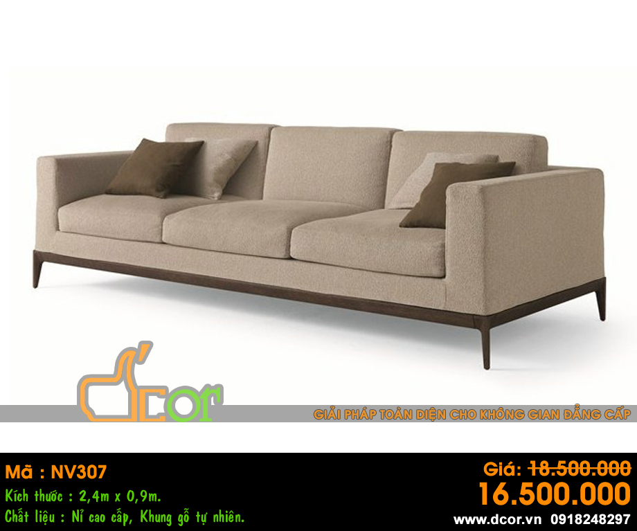 sofa văng 3 chỗ vải nỉ
