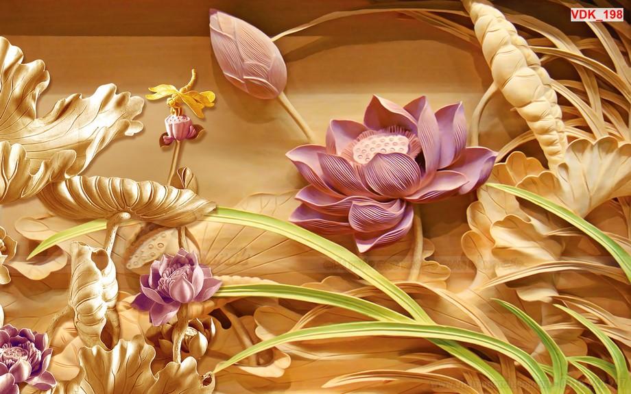Vẫn luôn là hoa sen nhưng được cải biến về màu sắc sao cho độc đao và phù hợp với xu hướng thẩm mỹ thời hiện đại