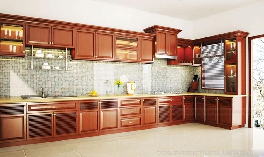 Thiết kế nhà bếp cho không gian rộng