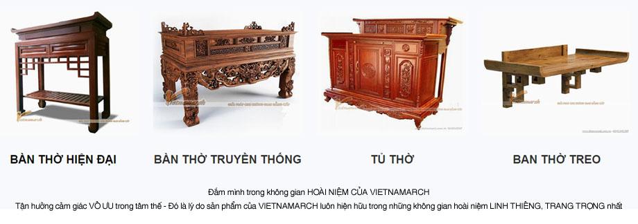 Đa dạng về thiết kế bàn thờ