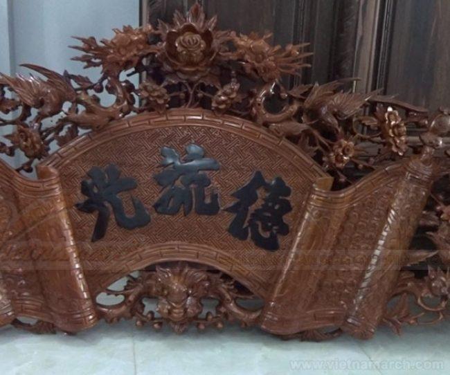 Cuốn thư sơn son thiếp vàng trong nhà thờ họ